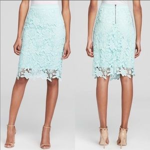 Bloomingdales Dylan Gray Floral Lace Midi Skirt